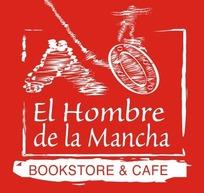 拉曼恰书店咖啡厅矢量logo模板