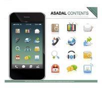 阿斯达智能手机页面图标