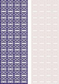 宝蓝色中式图案镂空花纹