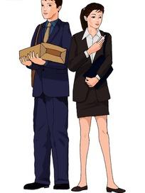两个穿着正装的商务男女