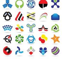 色彩艳丽的各种标志