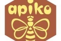 蜂巢形黄色蜜蜂APIKO英文图标EPS矢量文件