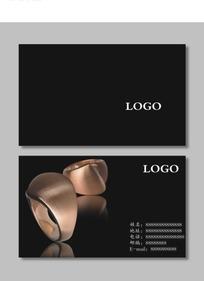 幽静黑色珠宝首饰店名片设计