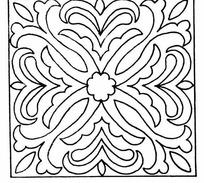 喇叭花对称图形_深绿底浅绿扇形对称喇叭花图案图片花纹花边