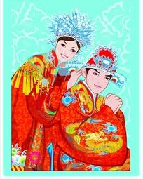 传统婚礼夫妻图片
