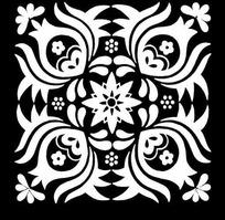 对称的印染图案
