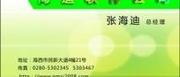 海迪软件公司绿色名片