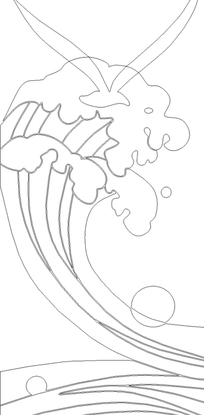海浪手绘简笔画