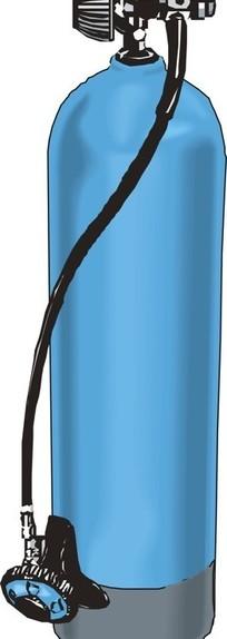 蓝色氧气瓶