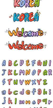 矢量英文卡通字体设计