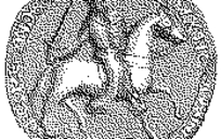 素描磨砂圆形骑士图案币EPS