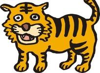 可爱的老虎卡通形象