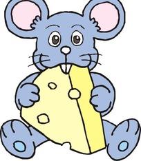 陆地动物 手绘吃奶酪的小老鼠  创意蛋糕店水果蛋糕宣传促销海报 奶酪图片