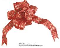 红色花纹装饰彩带