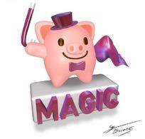 可爱卡通动物小猪素材