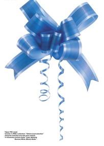 蓝色装饰彩带