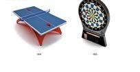 乒乓球桌与飞镖盘3D模型设计