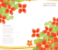 手绘花卉笔记本封面