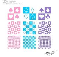 一组扑克牌图案填充底纹