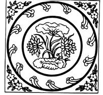 中国古典线条花纹纹样图案矢量素材