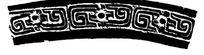 长条弧形传统经典花纹花边矢量图案