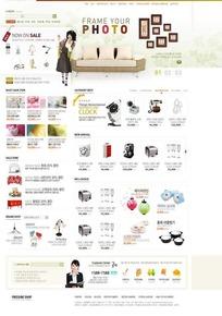 时尚购物网页模板