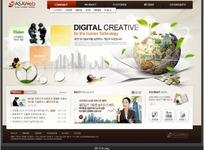 数字创意网站网页设计