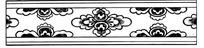 传统黑白花纹矢量图
