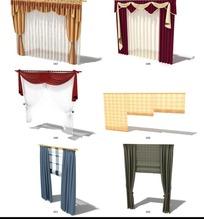 各式窗帘3D效果图模型设计