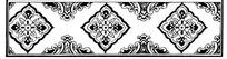 简单黑白花卉图案