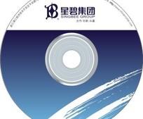 星碧集团蓝色光盘封面设计模板