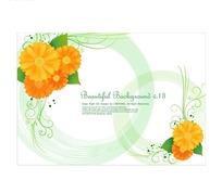 非洲菊与花纹图案设计素材