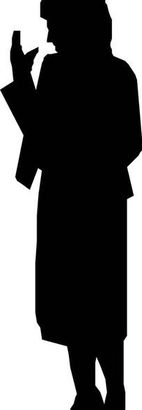 黑色人物剪影和手绘美女合辑矢量图eps免费下载_卡通