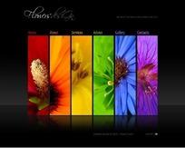 花卉网站网页设计模板