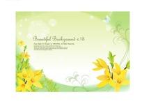 黄色迎春花与蝴蝶设计素材