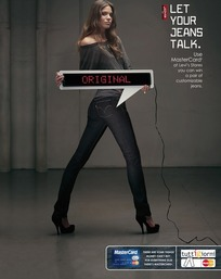 李维斯女式牛仔裤创意广告素材