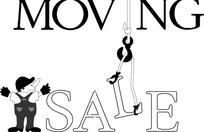 moving sale移动销售图标EPS矢量文件