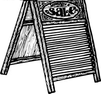 sale销售A字架图标EPS矢量文件