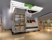 商场内甜品店3ds模型