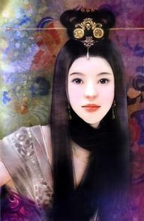 cg手绘古装美女图片素材