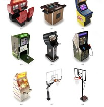 电玩城游戏机和篮球架