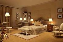 精致欧式大卧室3ds模型