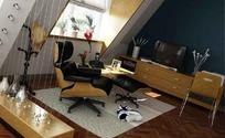 斜屋顶小客厅3ds模型