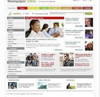 新闻报纸在线网站首页源码