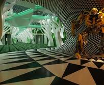 游戏场景效果图3Dmax