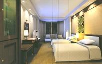 中式标准客房3ds模型