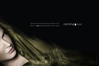 侧躺着的国外女性创意广告
