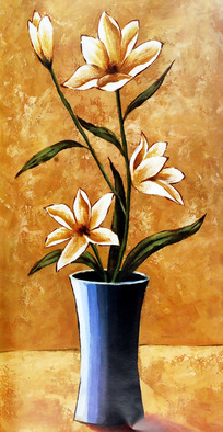 手绘 花瓶