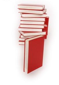 多本红色书籍对方在一起