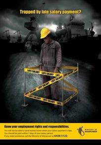 建筑工人创意广告素材
